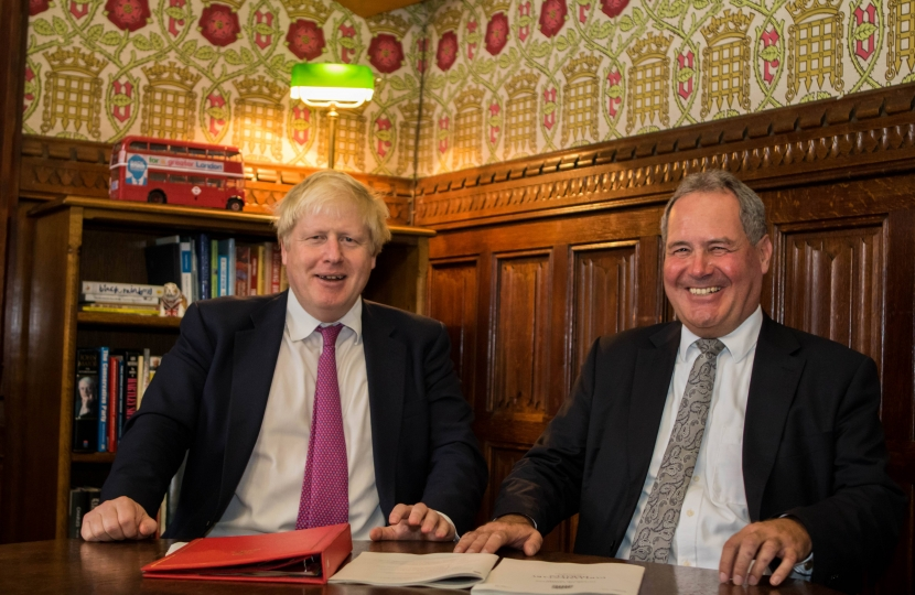 Bob with Prime Minister Boris Johnson